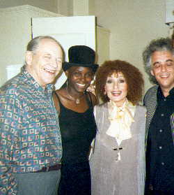 Val Kelly & Dominique Pizzinat, co-bandleaders of Freespirit in company of UK's jazz legends. Freespirit supported Cleo Lane and John Dankworth for 6 weeks in London-Piccadilly